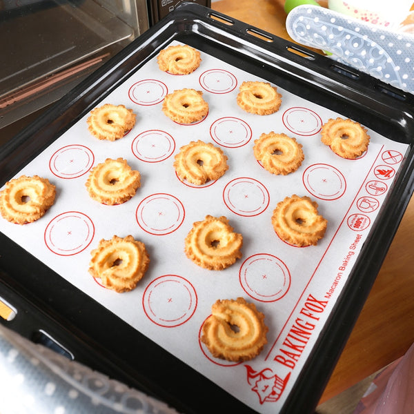 Silicone Macaron Baking Mat - The Helpful Kitchen