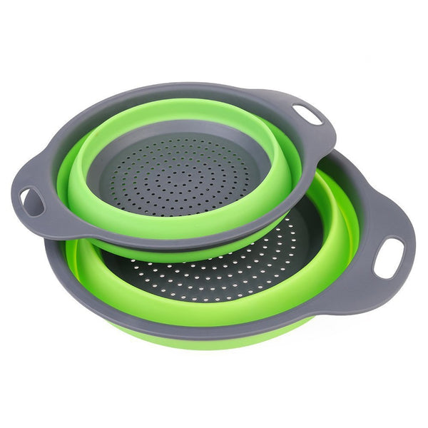 Foldable Silicone Colander - The Helpful Kitchen