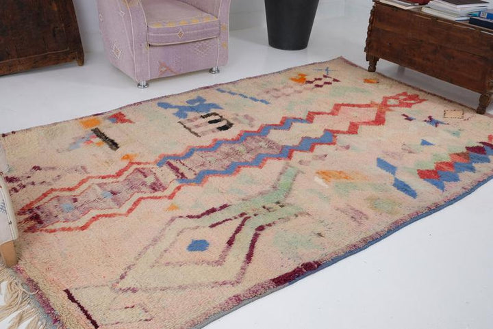 Moroccan rugs from azilal and beni ourain and Boucherouite rugs