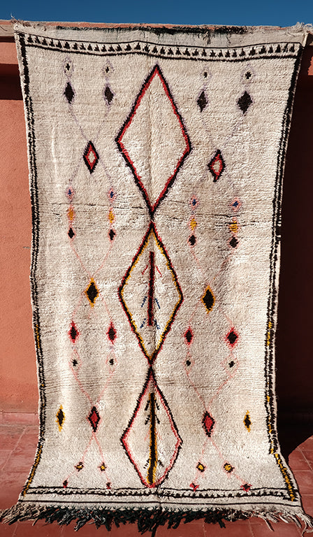 Cunning Azilal Berber rug 8.59 ft x 4.49 ft - moroccan boho rugs