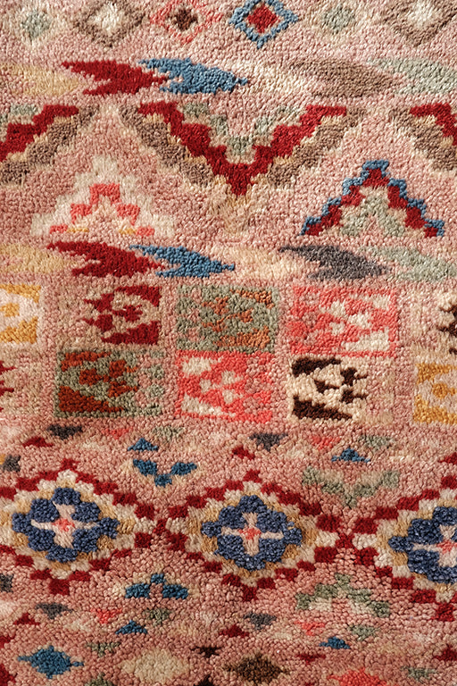 Old Pink Middle Atlas Moroccan rug   6.49 ft x 3.87 ft - moroccan boho rugs
