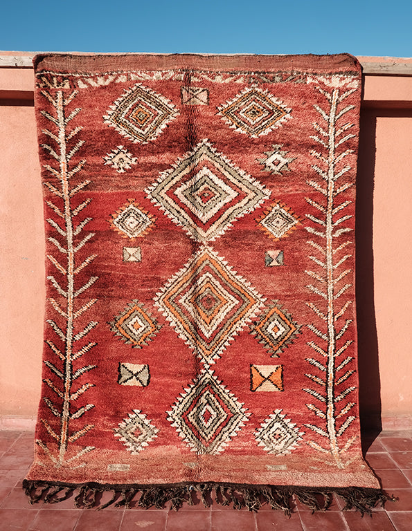 Native Designed Moroccan Rug 8.26 ft x 6.13 ft - moroccan boho rugs