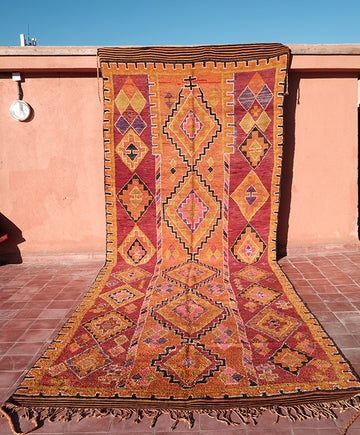 Geometrical Middle Atlas Rug 16.40 ft x 6.06 ft - moroccan boho rugs