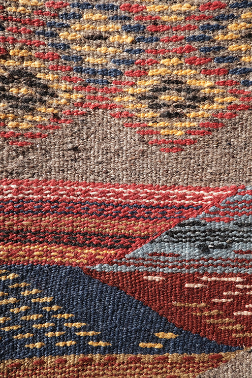Akhnif small colorful Kilim 3.47 ft x 2 ft - moroccan boho rugs