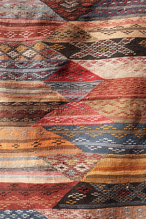 Colored Akhnif Flatwoven 3.44 ft x 2.23 ft - moroccan boho rugs