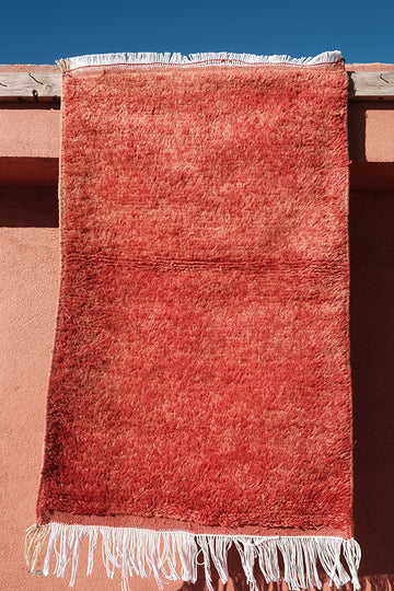 Small Red berber rug 3.37 ft x 2.06 ft - moroccan boho rugs