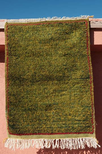 Taznakht Green small Rug  3.31 ft x 2.49 ft - moroccan boho rugs