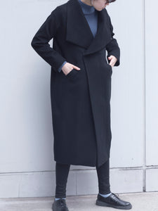 cashmere wool  stand collar coat