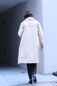 riversible ecopel mouton blouson