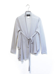 stand collar string cardigan