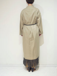 long fringe coat