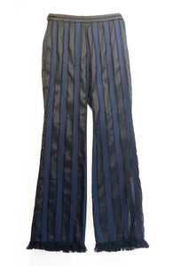 stripe fringe pants