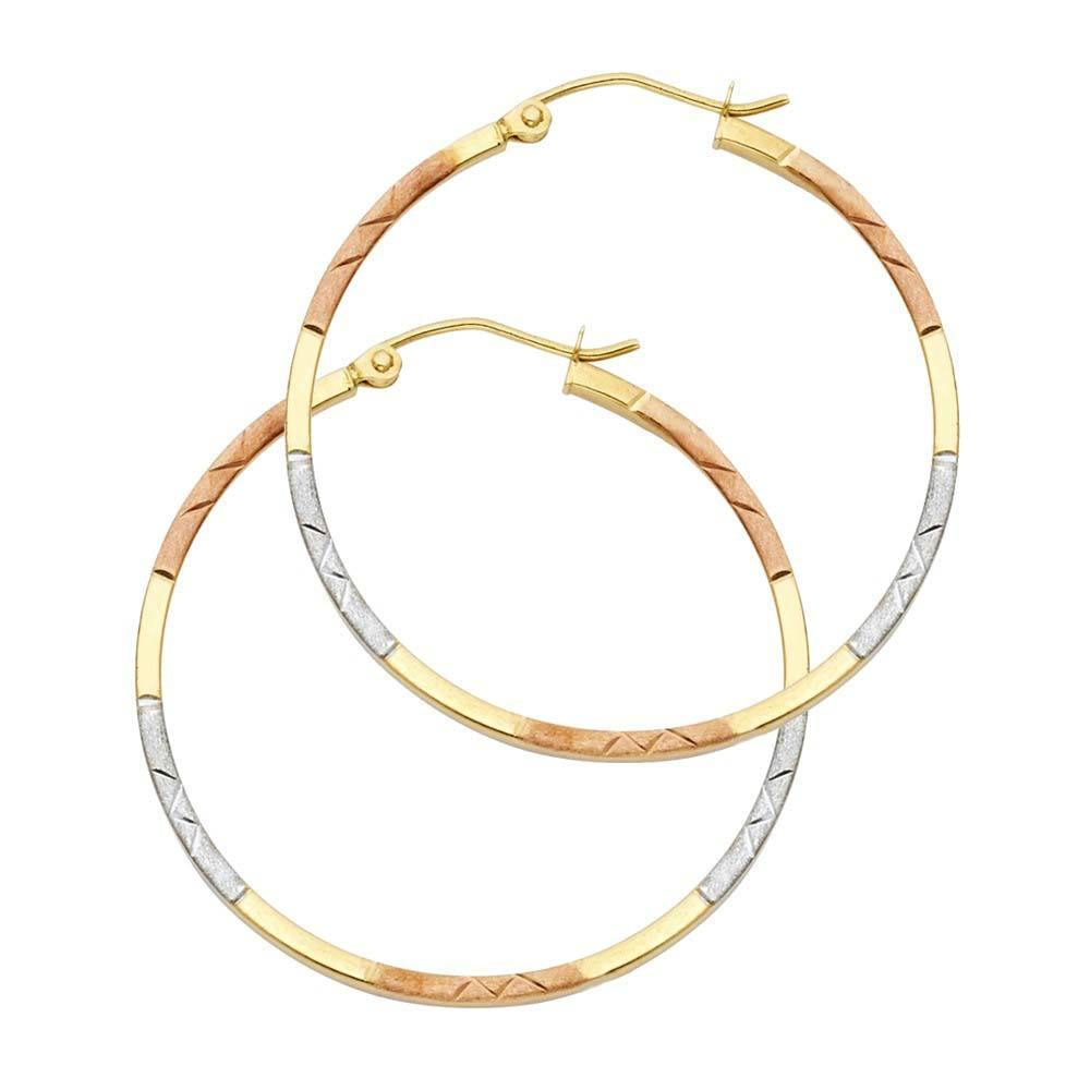Tube D/C Hoop Earrings