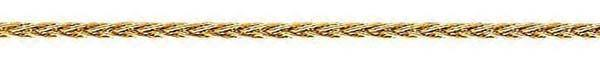 14k Yellow Gold Round Wheat Chain