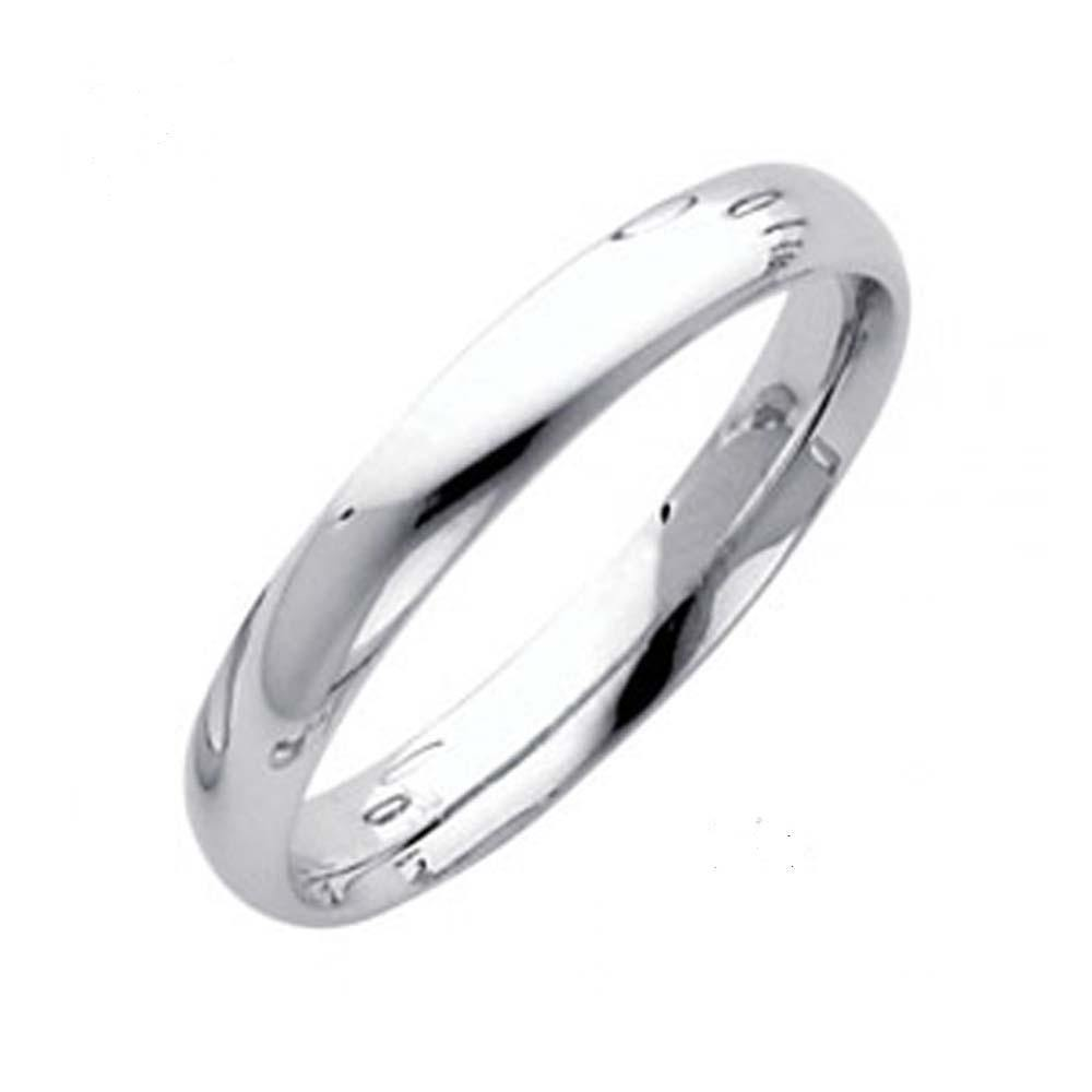 14k White Gold Classic Band - Traditional