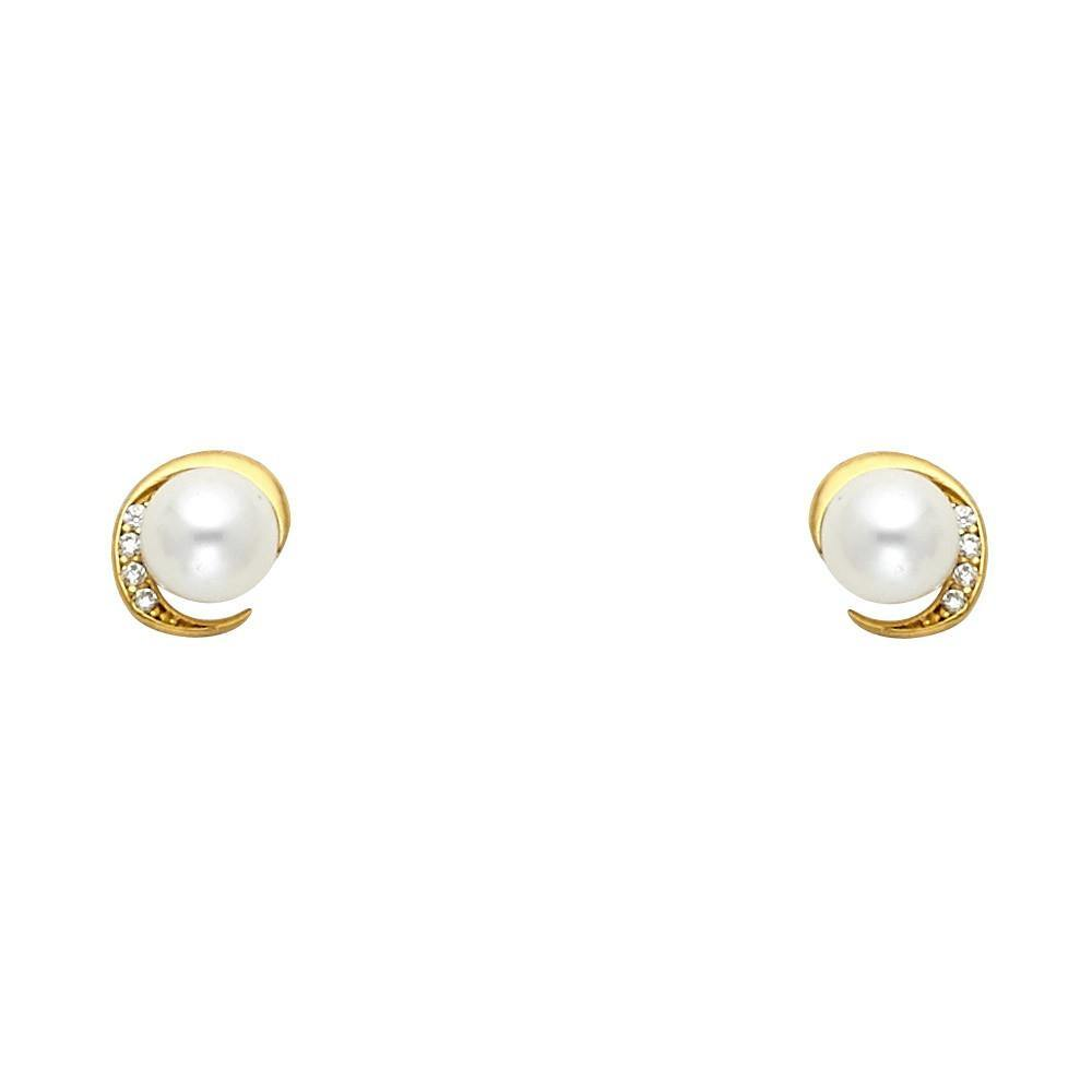 Gold Screw Back Earrings