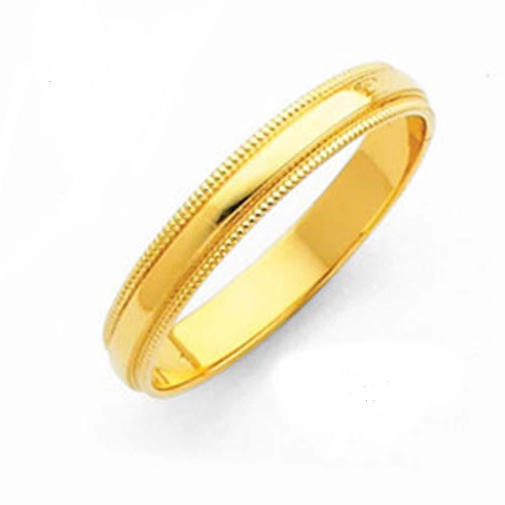 14k Yellow Gold Classic Band - Milgrain