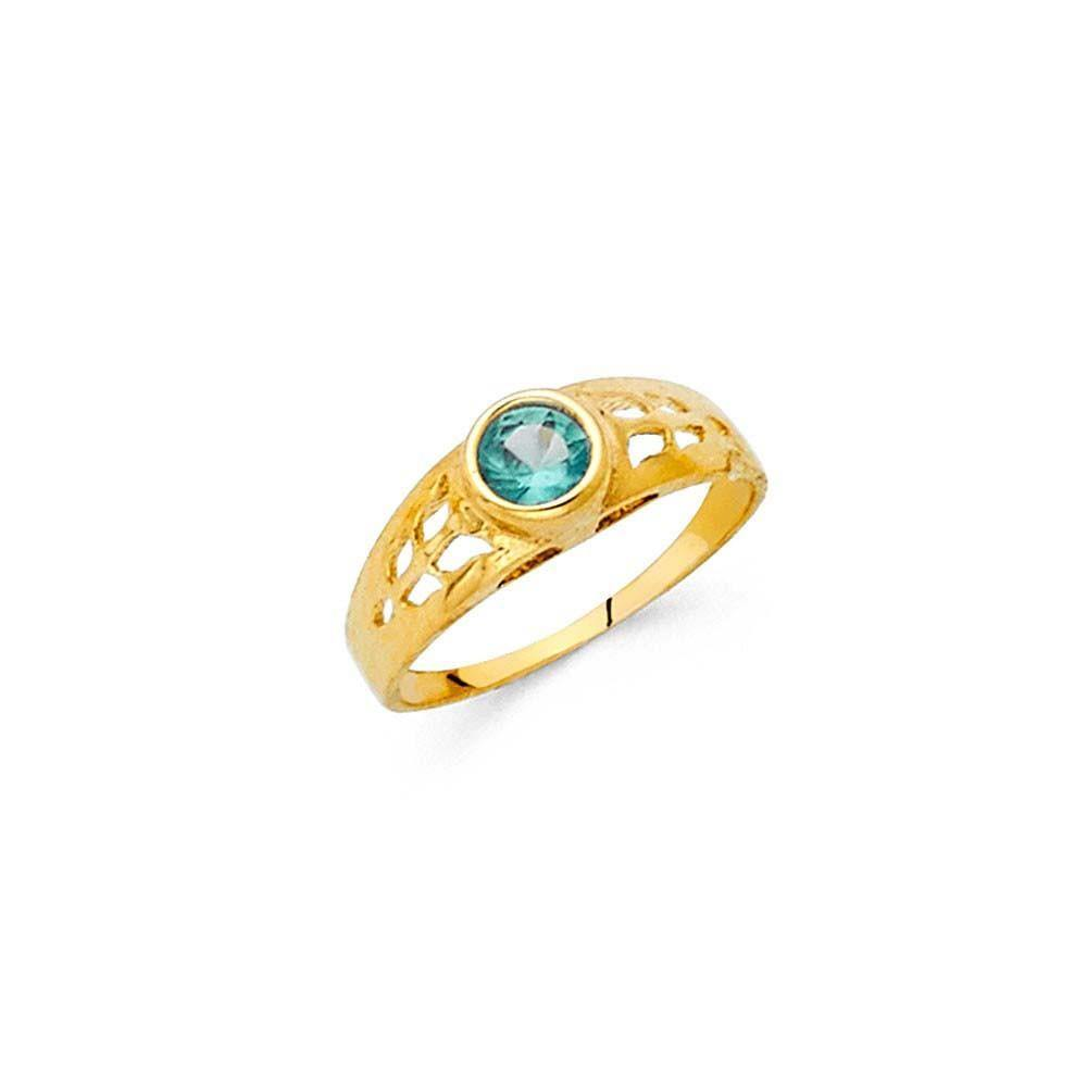 Birthstone Baby Rings