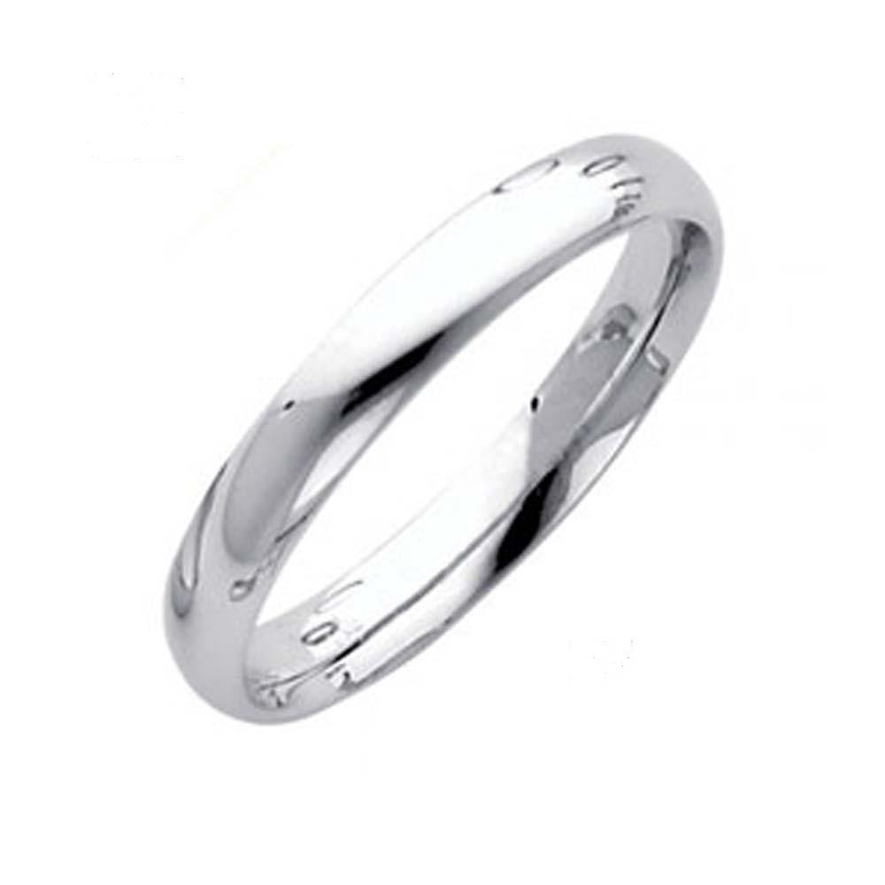 14k White Gold Comfort Fit Band - Traditional