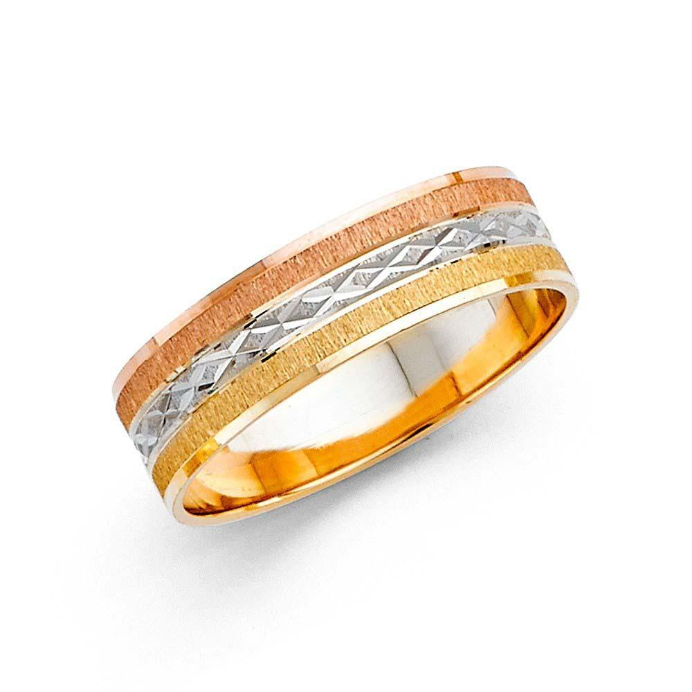 Tri Color Wedding Bands