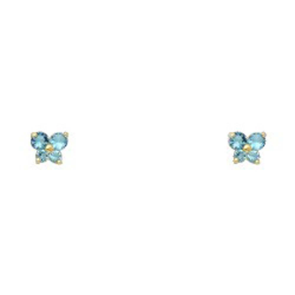 Birthstone Screw Back Earrings