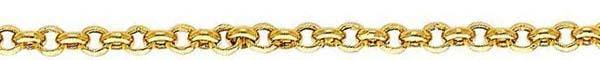 14k Yellow Gold Hollow Rolo Chain