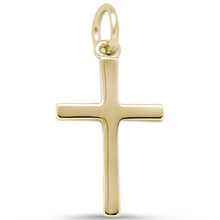 Load image into Gallery viewer, Sterling Silver Yellow Gold Plated Cross Pendant