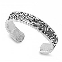 Load image into Gallery viewer, Sterling Silver Bali Style Toe Ring