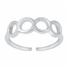 Load image into Gallery viewer, Sterling Silver Rhodium Plated Circles Toe Ring