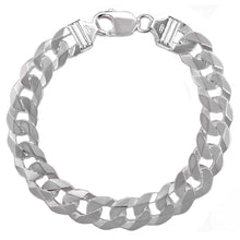 Load image into Gallery viewer, ItalianSterling Silver 8.5mm Curb BraceletAnd Width 10 mm