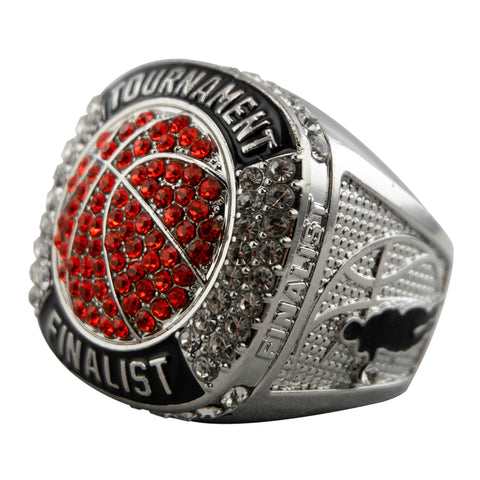 Basketball Tournament Finalist Ring - Silver