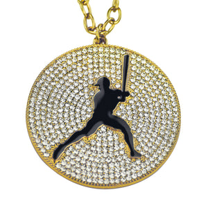 "2.25"" Medal (Gold/Black) - Baseball/Softball"