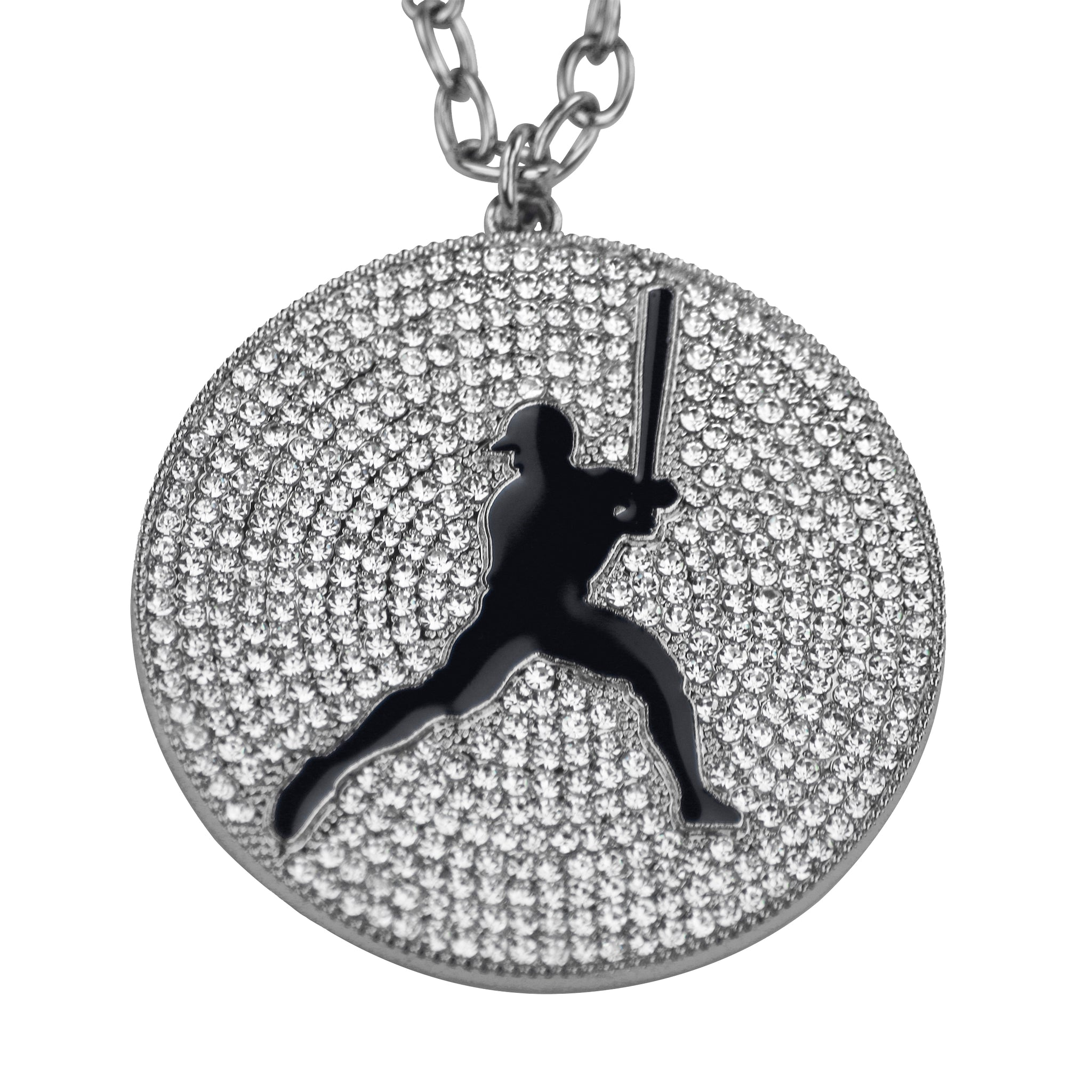 "2.25"" Medal (Silver/Black) - Baseball/Softball"