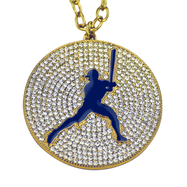 "2.25"" Medal (Gold/Blue) - Baseball/Softball"