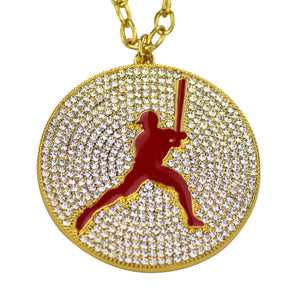 "2.25"" Medal (Gold/Red) - Baseball/Softball"