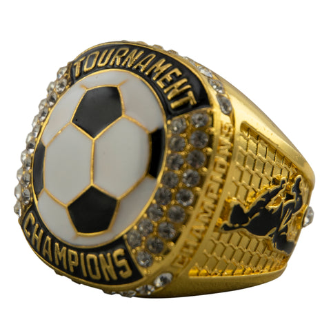Soccer Tournament Champion Ring - Gold
