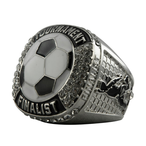 Soccer Tournament Finalist Ring - Silver