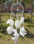 Circular White Feathers Dream Catcher