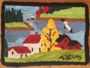 "Maud Lewis Pattern ""Houses and Tree"""