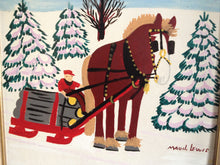 "Load image into Gallery viewer, Maud Lewis Pattern ""Horse Hauling Logs"""