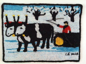 "Maud Lewis  ""Oxen Hauling"""