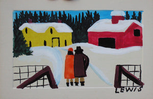 "Maud Lewis ""Winter Visit"""