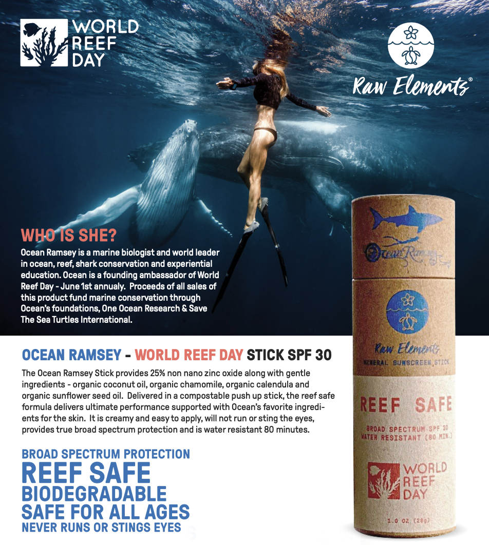 Raw Elements Ocean Ramsey Stick SPF 30