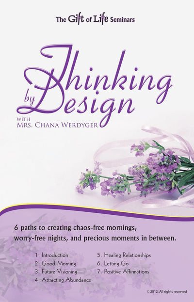 Thinking By Design - With Mrs. Chana Werdyger