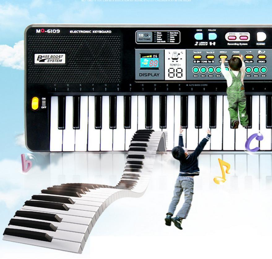 New 61 Keys Digital Music Electronic Keyboard Key Board Gift Electric Piano Gift Music Instrument toys for children