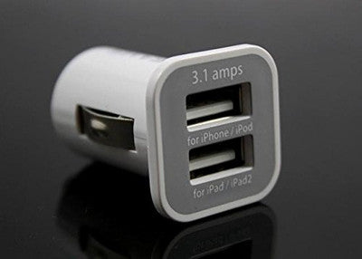 USAMS Dual Port USB Car Charger 5V 3100mah for iPhone4/4S for iPAD1/2 and other Smartphones and Tablets