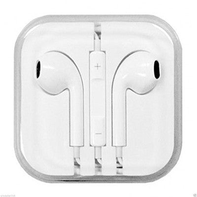 Earphone  with Microphone & Volume Control for I Phone I Pad I Pod (white)