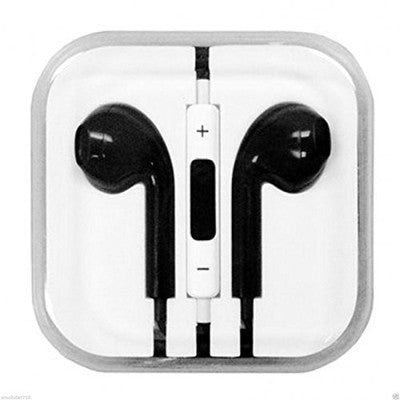 Earphone  with Microphone & Volume Control for I Phone I Pad I Pod (black)
