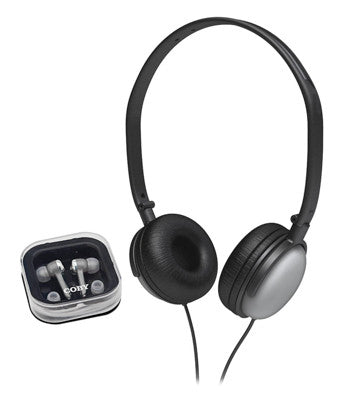 Coby CV140SL Earbud/Headphone Combo