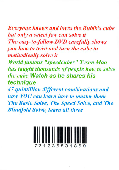 You CAN Do The Rubik's Cube - DVD